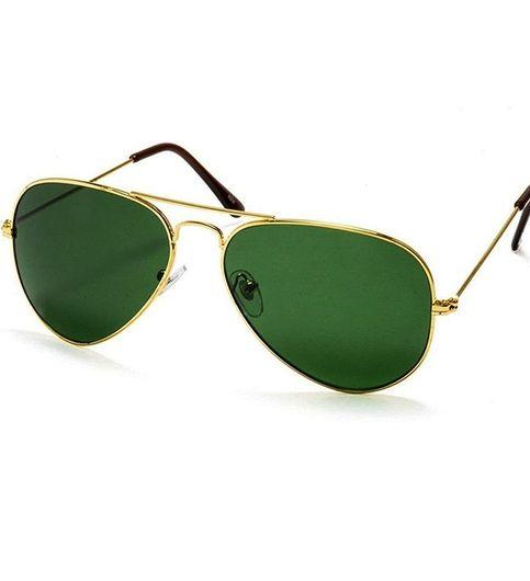 GN Sun Combo of 2 Unisex model Sunglasses 1900 full blackGreen Golden Aviator with boxes