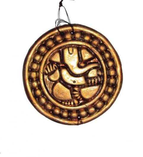 Home Decorative Terracotta Copper Ganehs Wall Hanging-42 cms. - Handcrafted Decorative for Wall Decor Room Decor and Gifts