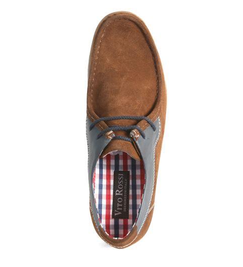 SCHUE MAKER Cognac Men Lace Up Casual Shoes