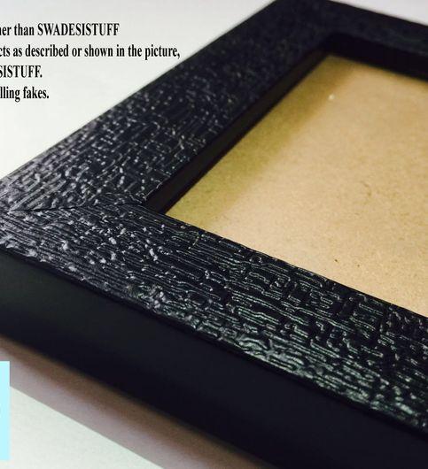Swadesi Stuff Wooden Photo Frame Set of 15 mm17 Black