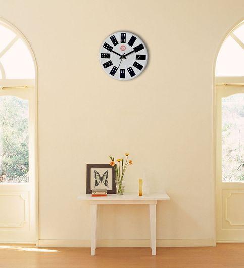 SwadesiStuff Natural Wooden Analog Wall Clock