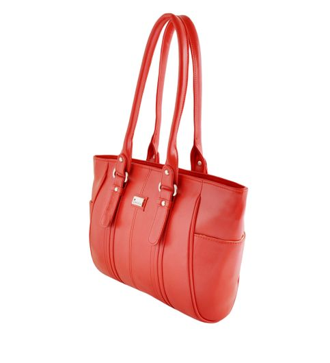 Goldmine Designer Hand Bag For Girls and Womens Red Party Ware