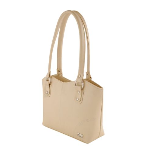 Goldmine Designer Hand Bag For Girls and Womens Cream Party Ware