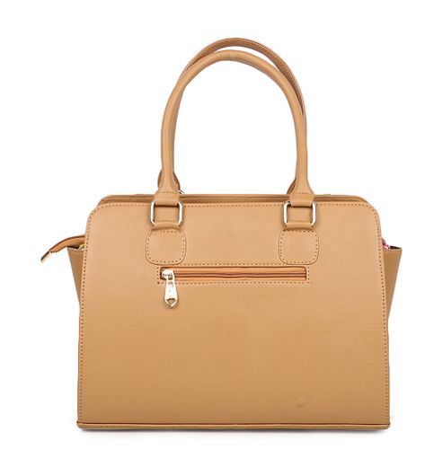Goldmine Designer Beige Color Handbags for Womens and Girls Lightweight Stylish Women Handbags for Office College Parties - Spacious Leather Handbags