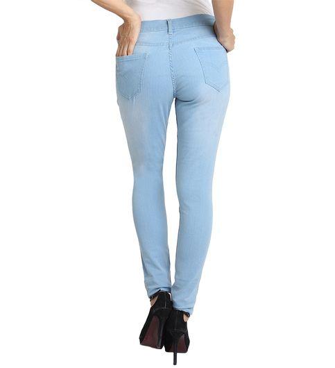 Fuego Fashion Wear Light Blue Jeans For Women With Assorted Boot Socks GRL-JNS-KN3-BOOT-SOCKS-GRN