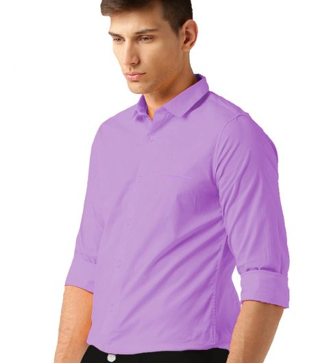 VanGalis Fashion Wear Purple Formal Shirt For Men