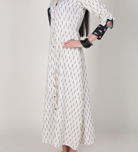Black and White Ikat Shirt dress