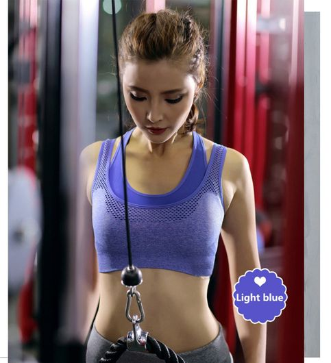 Womens Comfort Revolution Workout Fitness Sports Bras Fake Two Pieces Yoga Athletic Gym High Impact Underwire Padded Seamless Strap Racerback.-B078P42FYM