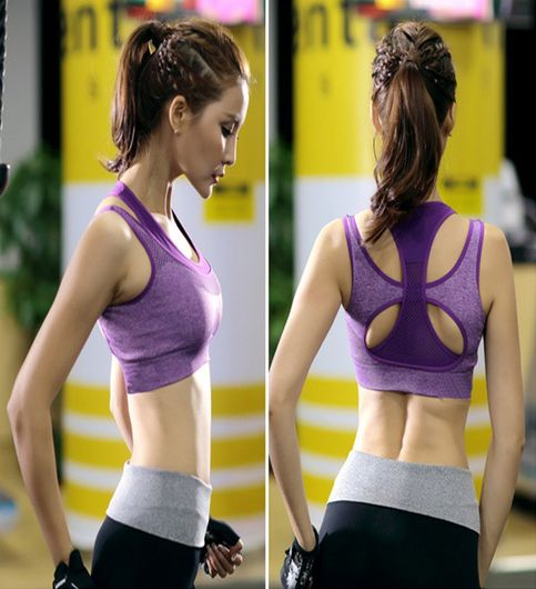 Womens Comfort Revolution Workout Fitness Sports Bras Fake Two Pieces Yoga Athletic Gym High Impact Underwire Padded Seamless Strap Racerback.-B078NFDJ1Y