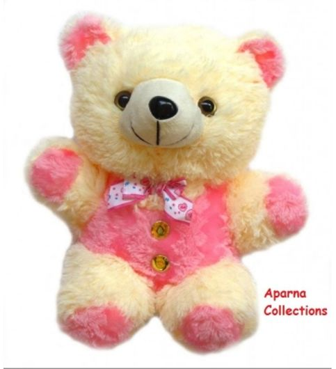 Aparnas pretty pink teddy bear soft toy combo for playing kids decoration or birthday gift-45cm and 85cm