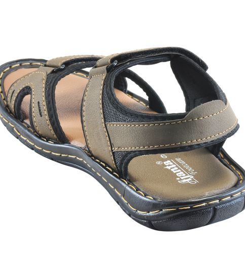 Ajanta Men s Classy Sandal Slipper - Grey