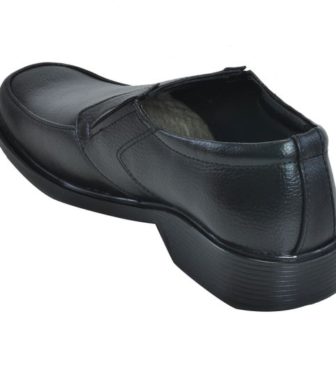 Ajanta Men s Formal Moccasin Shoes - Black