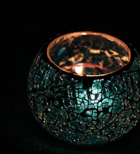 Saudeepindia Glass Tealight Candle Holder T Light Showpiece