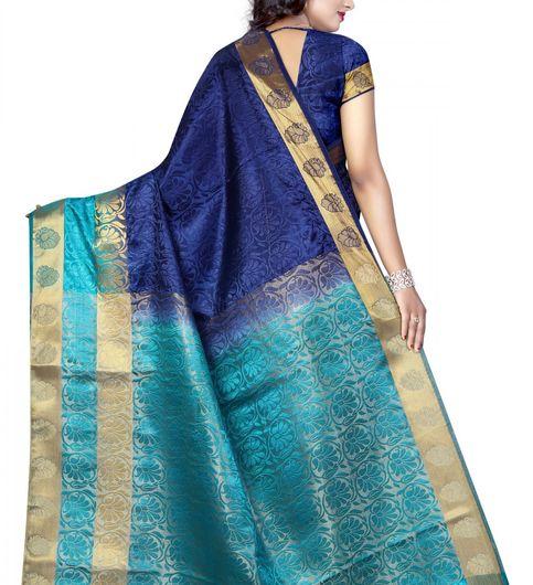 Beautiful Multi Color Tussar Silk Nylon  Jacquard Saree