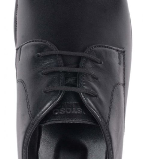 Costoso Italiano Black Leather Formal Derby Shoes