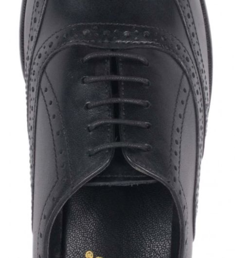 Costoso Italiano Black Leather FormalBrouge Shoes