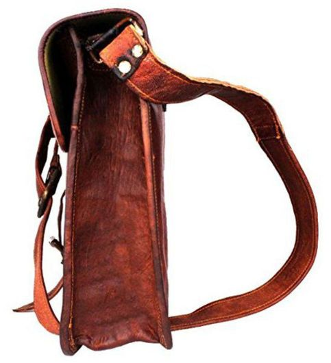 iHandikart Brown Leather Office Messenger Bag
