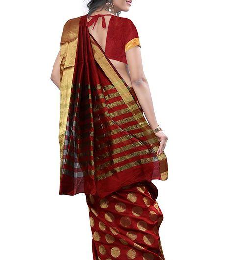 High Glitz Fashion Womens Maroon Colour Sarees