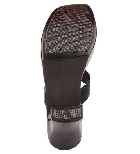 Glitzy Galz BLack Block Heels AN612BLACK