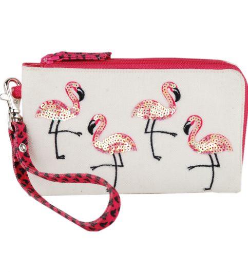 Pinaken Flamingo Blush Multicolor Walking Purse