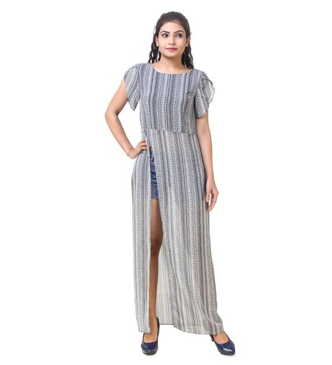 Skizo striped maxi top