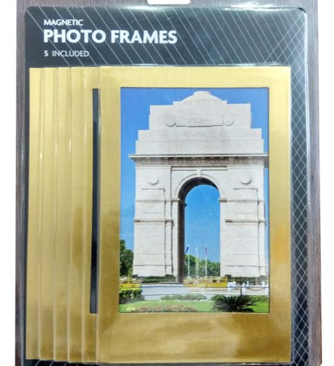 Khoozi Gold Glossy Plated Set of 5 pcs Photo Frame 314