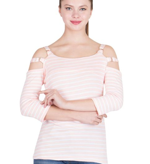 Ants Striped Cut Shoulder Top203