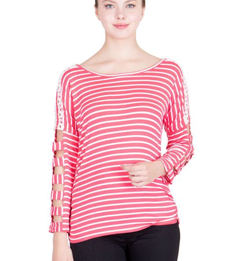Ants Striped Cut Style Top196