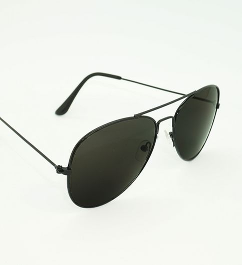 Skygge Original Aviator Black Frame Black Lens UV Protected Unisex Sunglasses