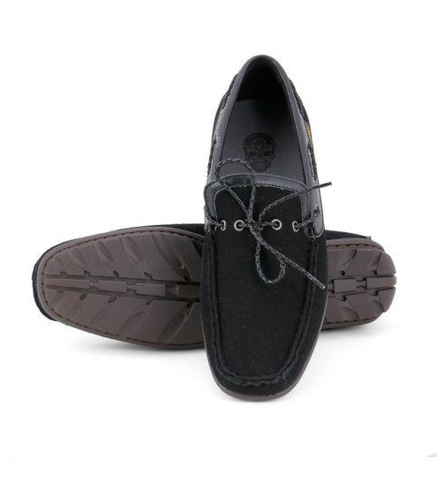 Froskie Casual Smart Party Wear Black Loafers FR-011-Black