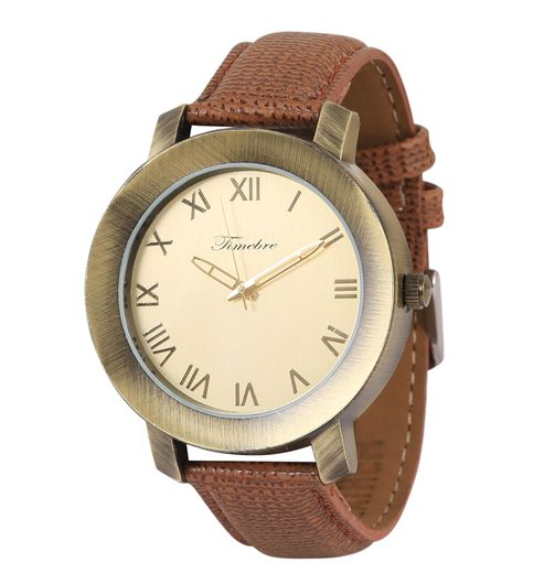 Timebre Men Casual Golden Analog Watch