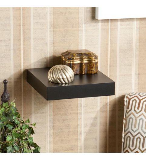 Decornation Wall Shelf Single Floating Wall Rack 10x10 Inches - Black