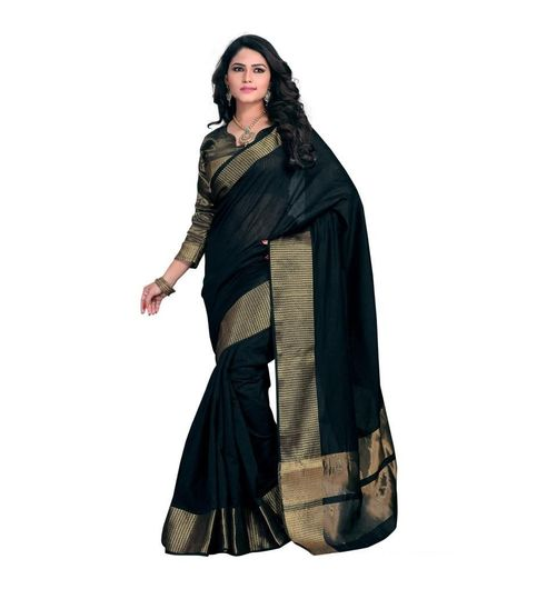 Partywear Black Sambalpuri Sarees with Blouse Piece by Nancy Collection 626a