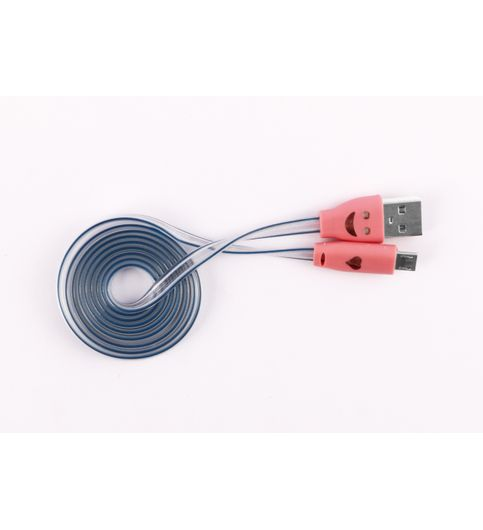 DC0013Smiley Led CablePink