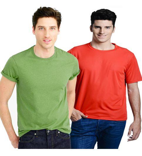 T-Shirt For Mens ComboTsh709Redgrn