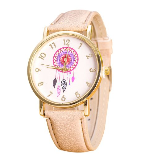 ColorFull Dreamcatcher BEIGE Strap Women Watch