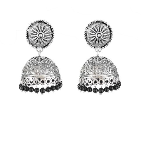 WATCH ME Banjara Boho pom Pom Trendy Fashionable Partywear Earrings Jhumki for Women Girls WMRPG-076