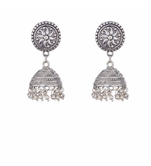 WATCH ME Banjara Boho pom Pom Trendy Fashionable Partywear Earrings Jhumki for Women Girls WMRPG-014