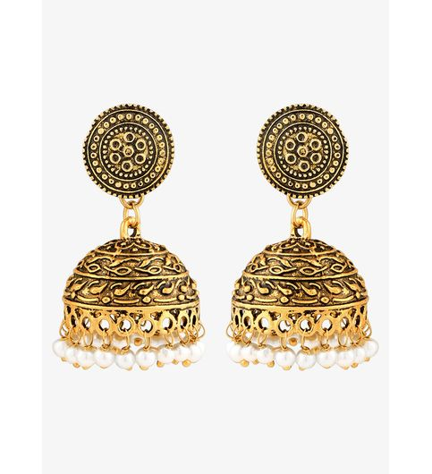 WATCH ME Banjara Boho pom Pom Trendy Fashionable Partywear Earrings Jhumki for Women Girls WMRPG-093