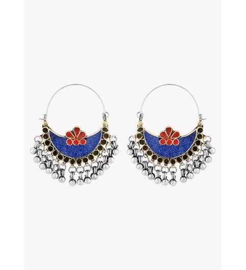 WATCH ME Banjara Boho pom Pom Trendy Fashionable Partywear Earrings Jhumki for Women Girls WMRPG-091