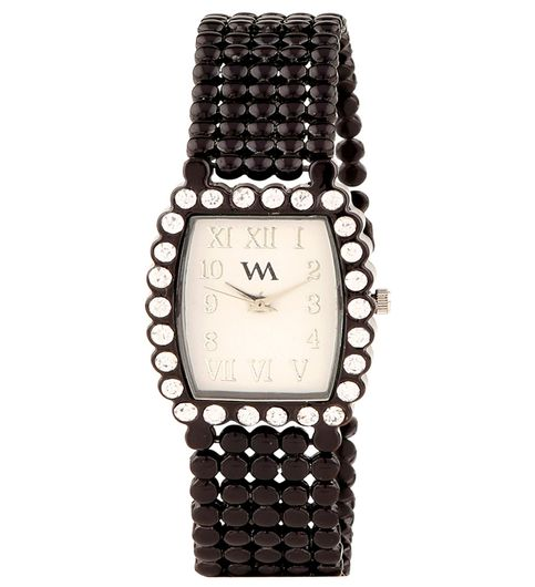 WATCH ME Black Metal White Dial Watch For Women Watch MeAL-135