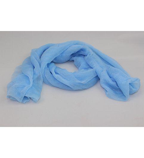 MIVERA   BLUE COLOR PLAIN SCARVE