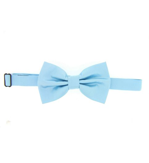 Blue Polyster Bow Tie for Women and Men