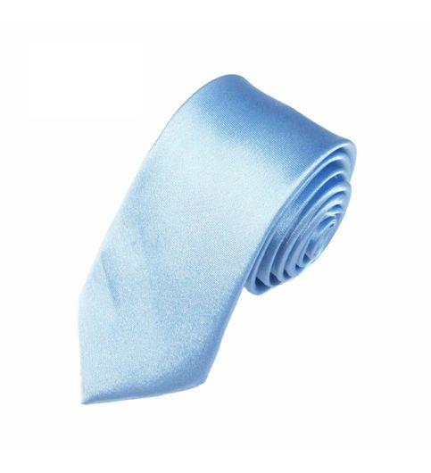 Mivera Blue Polyester Formal Skinny TiesNt2614