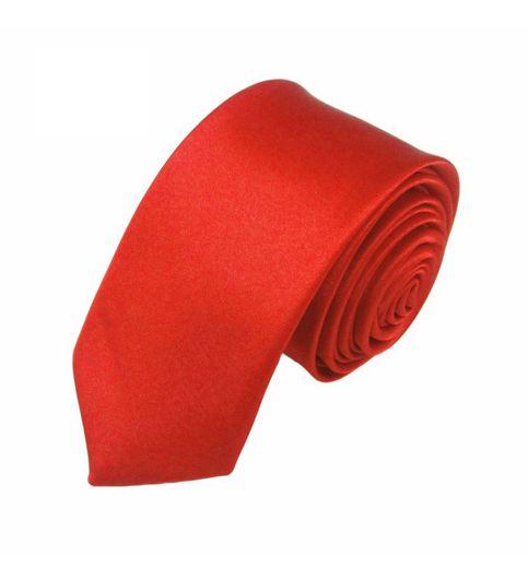Mivera Red Polyester Formal Skinny TiesNt2616