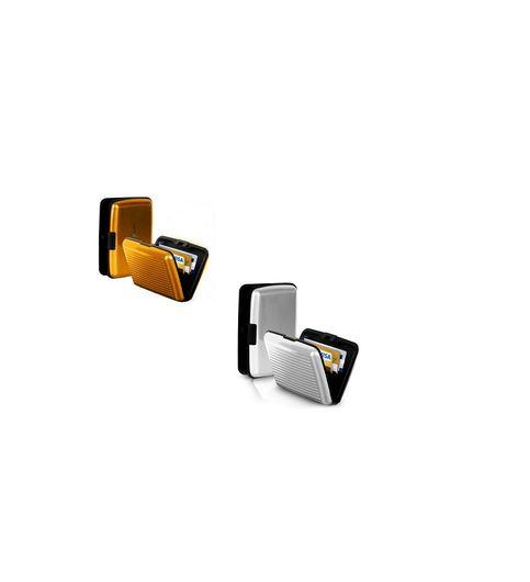 Pursho Combo of Aluminium Credit Card Holder Set of 2 Goldensilver