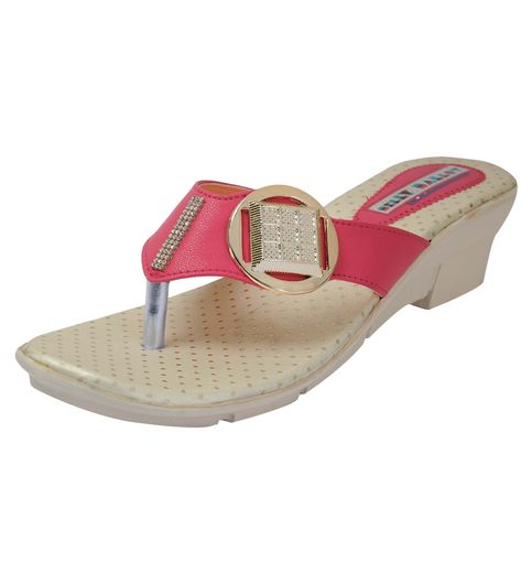 Belly Ballot synthetic pink Flats