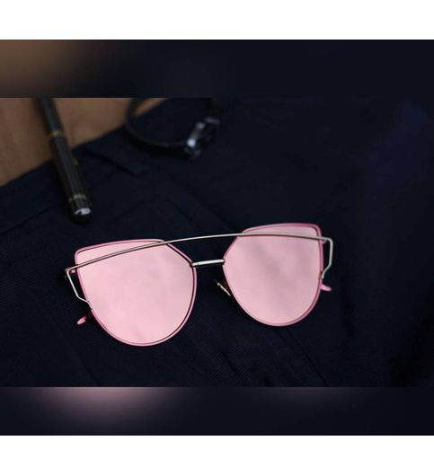 Fashion Mart Bradead New Gold Pink sunglasses