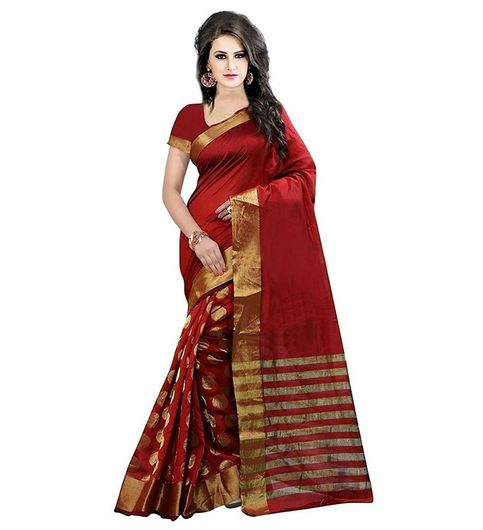 Vinayak Textile Womens Cotton Embroidered Saree082