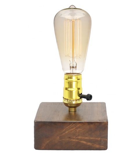 Marical Wooden Base Table LampSwitch Holder
